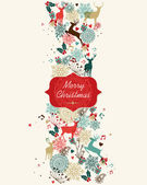 Merry Christmas pattern banner