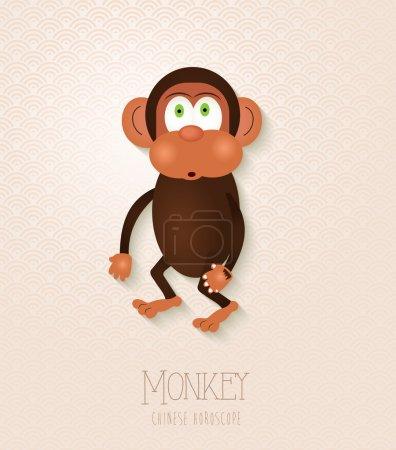 Chinese zodiac set Year of the Monkey