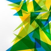 Abstract geometric Brazil flag