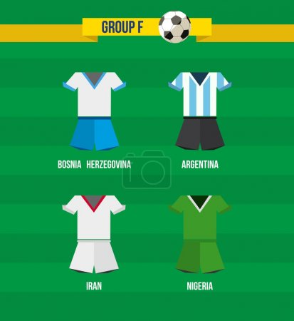Brazil Soccer Championship 2014 Group F team