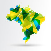 Colorful abstract Brazil map EPS10 vector with transparency organized in layers for easy editing