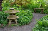 Green serene japanese garden