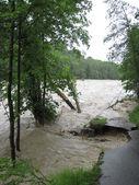 Flash Flood. Natural Disaster. Devastated Road