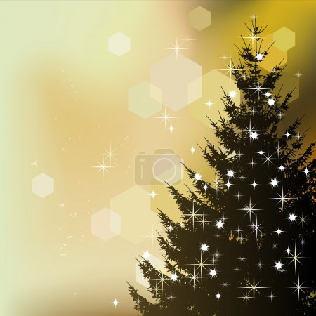 Christmas background, abstract tree