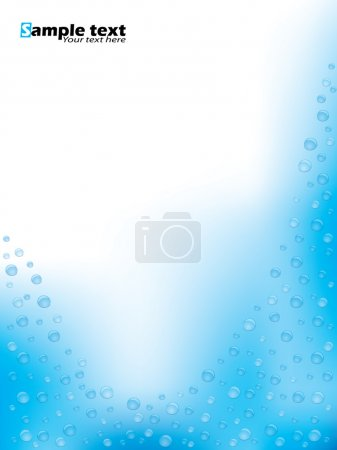 Illustration for Abstract brochure design with water effect and bubbles - Royalty Free Image