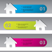 Inforaphic design with house stickers