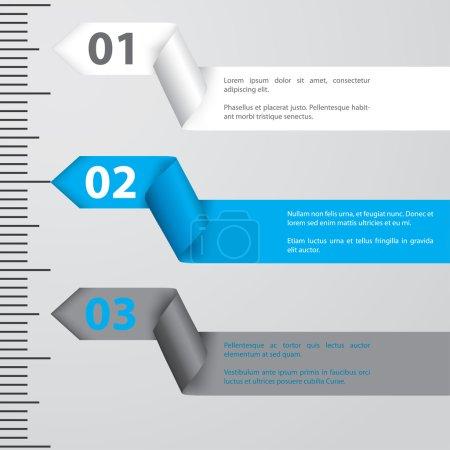 Ribbon infographic design