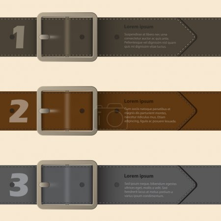 Belt buckle infographic design