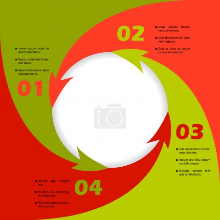 Circling arrows inforgraphic design