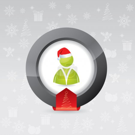 3d christmas button for social network sites