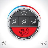 Multifunctional car clima control with red display