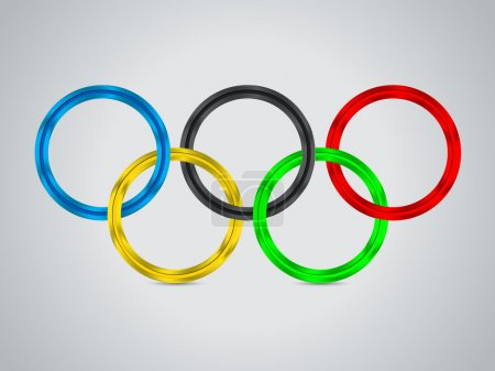 Simple background design with olympic rings