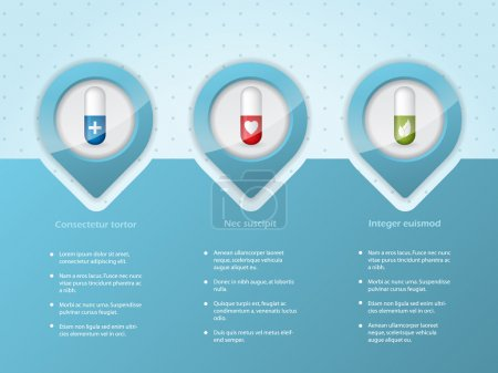 Illustration for Medical infographic background design with different symbols - Royalty Free Image