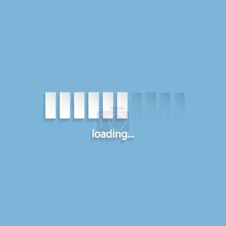 Flat loading screen design