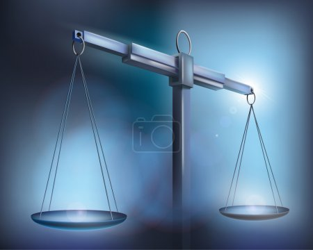 Illustration for Vector illustration of a silver balance. - Royalty Free Image
