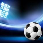 Soccer ball on the field of stadium....