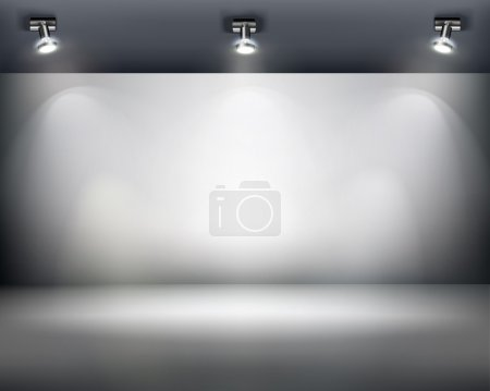 Photo for Empty exposition in shop or gallery. Vector illustration. - Royalty Free Image