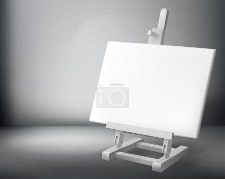 Easel. Vector illustration.