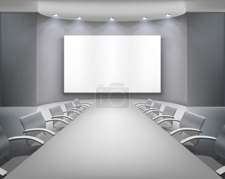 Illustration for Empty meeting room. Vector illustration. - Royalty Free Image