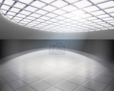 Empty hall. Vector illustration.