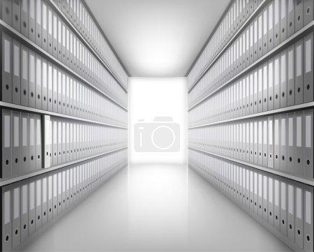 Many folders in archive. Vector illustration....
