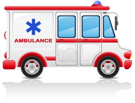Ambulance car illustration