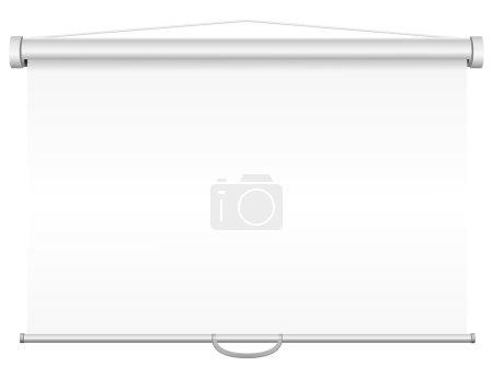 Photo pour Illustration d'écran de projection portable vierge isolée sur fond blanc - image libre de droit