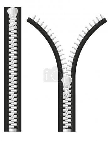 Zipper illustration
