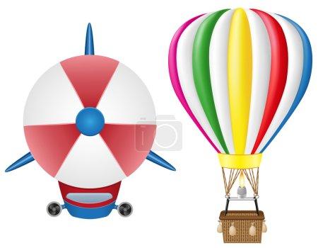 Airship zeppelin and hot air