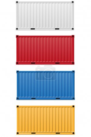 Cargo container vector illustration isolated on wh...
