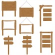 Wooden boards signs vector illustration isolated o...