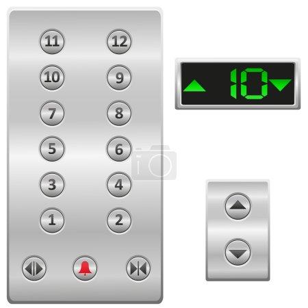 Elevator buttons panel vector illustration