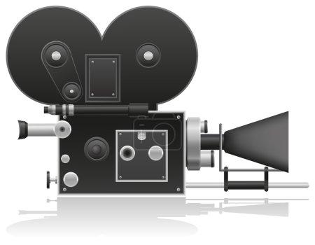 Old movie camera vector illustration