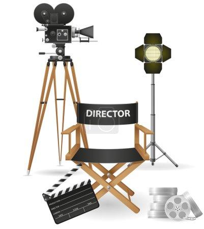 Zdjęcia ikony kino i film ilustracja wektorowa
