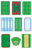 fields for sports games vector illustration