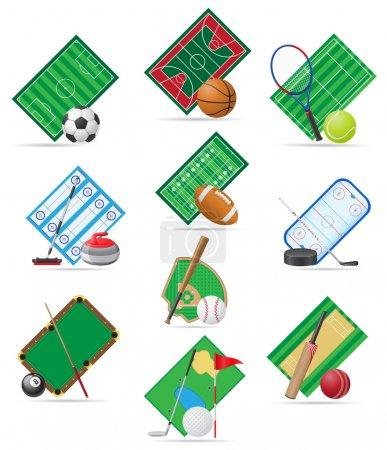 Illustration for Set icons sport vector illustration isolated on white background - Royalty Free Image