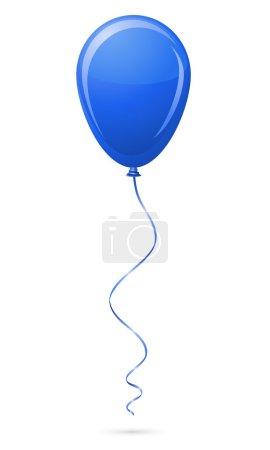 Illustration pour Illustration de vecteur de ballon bleu isolé sur fond blanc - image libre de droit