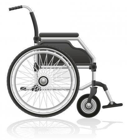 Wheelchair vector illustration