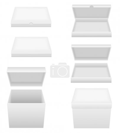 white packing box vector illustration