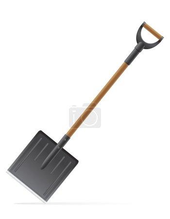 Garden tool shovel vector illustration