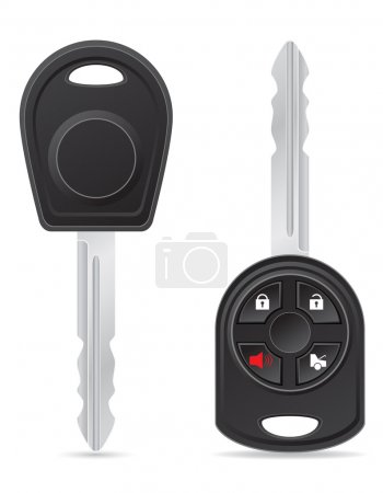 Illustration pour Illustration de vecteur clé de voiture isolé sur fond blanc - image libre de droit