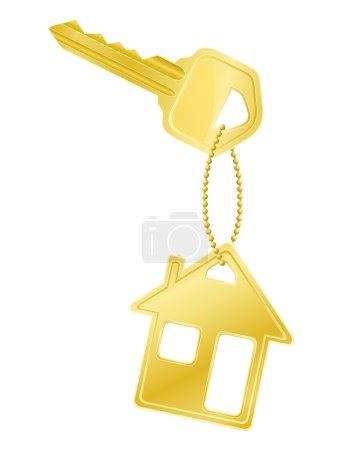 house key door lock vector illustration