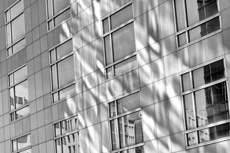 Photo for Modern architecture with glass of windows. - Royalty Free Image