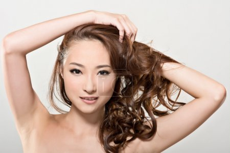 Asian beauty face and hair