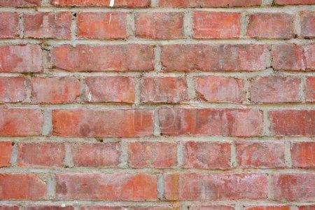 Photo pour Vieille texture de mur de brique rouge - image libre de droit