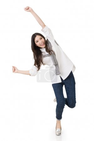 Cheerful Asian woman