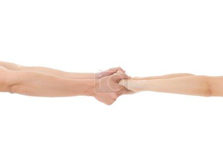 Photo pour Couple tenir la main, gros plan image . - image libre de droit
