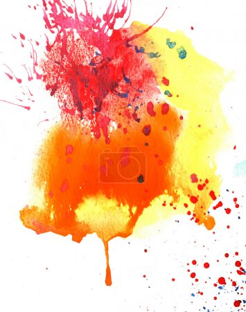 Photo for Abstract watercolor brush with good paper texture. - Royalty Free Image