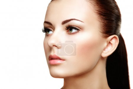 Photo for Beautiful woman face. Perfect makeup. Beauty fashion - Royalty Free Image