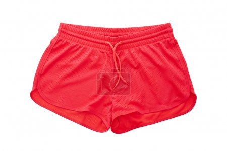 Photo for Red Shorts isolated on white background - Royalty Free Image